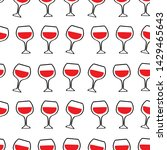 colorful hand drawn wine...   Shutterstock .eps vector #1429465643
