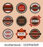 racing labels   vintage style.... | Shutterstock . vector #142946569