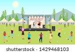 music festival 2019 flat vector ... | Shutterstock .eps vector #1429468103
