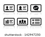 business card vector icons set | Shutterstock .eps vector #142947250
