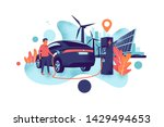 electric car charging at... | Shutterstock .eps vector #1429494653