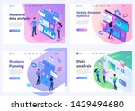 set isometric landing pages ... | Shutterstock .eps vector #1429494680