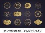 vector set of vintage golden... | Shutterstock .eps vector #1429497650