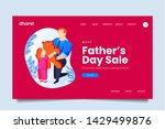 creative father's day sale web...