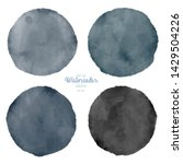 set of color watercolor stains. ... | Shutterstock . vector #1429504226