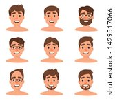 set of different heads with... | Shutterstock .eps vector #1429517066