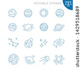 space and planets related icons....   Shutterstock .eps vector #1429518689