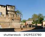Small photo of Castle Rocca Sanvitale in Fontanellato has crenelated walls and asymmetric towers