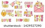 love story set. vector hearts ... | Shutterstock .eps vector #1429527290