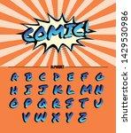 set alphabet vector. font in... | Shutterstock .eps vector #1429530986