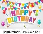 color glossy balloons birthday... | Shutterstock .eps vector #1429535120