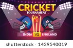 cricket tournament  india v s... | Shutterstock .eps vector #1429540019