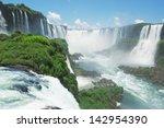 The Famous Iguazu Falls On The...