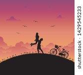 illustration of love and... | Shutterstock .eps vector #1429545233