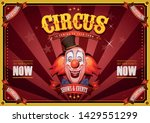 vintage circus poster with... | Shutterstock .eps vector #1429551299