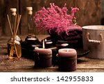 candles  aromatherapy oil and... | Shutterstock . vector #142955833