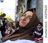 spanish people in fiesta  ...   Shutterstock . vector #14295625