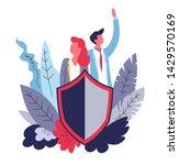 family pack medical insurance... | Shutterstock .eps vector #1429570169