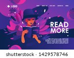 landing page dedicated to... | Shutterstock .eps vector #1429578746