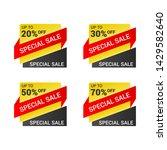 sale banner templates design....   Shutterstock .eps vector #1429582640
