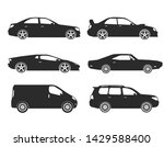 vector cars icons set  side view | Shutterstock .eps vector #1429588400