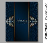 wedding invitation card with... | Shutterstock .eps vector #1429590620
