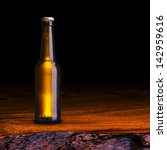 cold bottle of beer on wood... | Shutterstock . vector #142959616