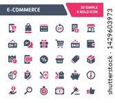 30 editable vector icons... | Shutterstock .eps vector #1429603973