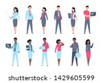 office people set. businessman... | Shutterstock . vector #1429605599