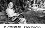 woman with laptop works outdoor ... | Shutterstock . vector #1429606403