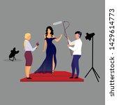 journalists  reporters... | Shutterstock .eps vector #1429614773