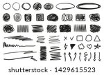 hand drawn hatching shapes on... | Shutterstock .eps vector #1429615523