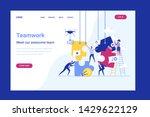 business concept. team metaphor.... | Shutterstock .eps vector #1429622129