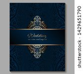 wedding invitation card with...   Shutterstock .eps vector #1429651790