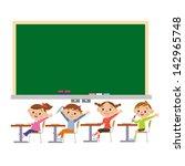 blackboard and student | Shutterstock .eps vector #142965748