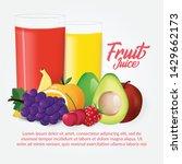 fruit vector illustration with... | Shutterstock .eps vector #1429662173