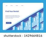 vector isometric homepage of... | Shutterstock .eps vector #1429664816