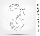 abstract tribal tattoo | Shutterstock .eps vector #142967128