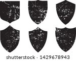 grunge shield stamps collection....   Shutterstock .eps vector #1429678943