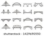 Bridges Line Icon Set  City...