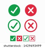 accepted rejected  approved... | Shutterstock .eps vector #1429693499