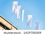 three blank white flags on...   Shutterstock . vector #1429700309