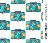 pattern of cameras... | Shutterstock .eps vector #1429709573