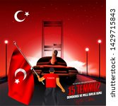 15 july day turkey. translation ...   Shutterstock .eps vector #1429715843
