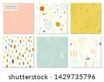 seamless abstract patterns and... | Shutterstock .eps vector #1429735796