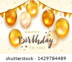 lettering happy birthday to you ... | Shutterstock .eps vector #1429784489