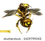 Wasp. 3d Realistic Vector Icon