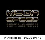 vector modern sign mega speed... | Shutterstock .eps vector #1429819643