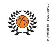 basketball ball and laurel... | Shutterstock .eps vector #1429838420