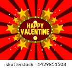 happy valentine  beautiful... | Shutterstock .eps vector #1429851503